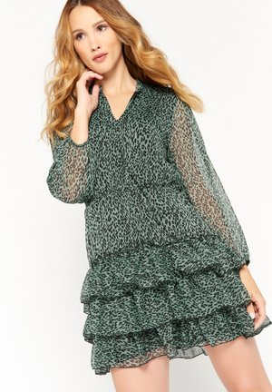 LEOPARD PRINT - Day dress - licht green