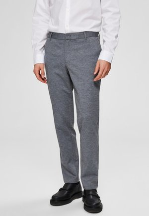 FLEX FIT HOSE SLIM FIT - Chinosy - grey melange