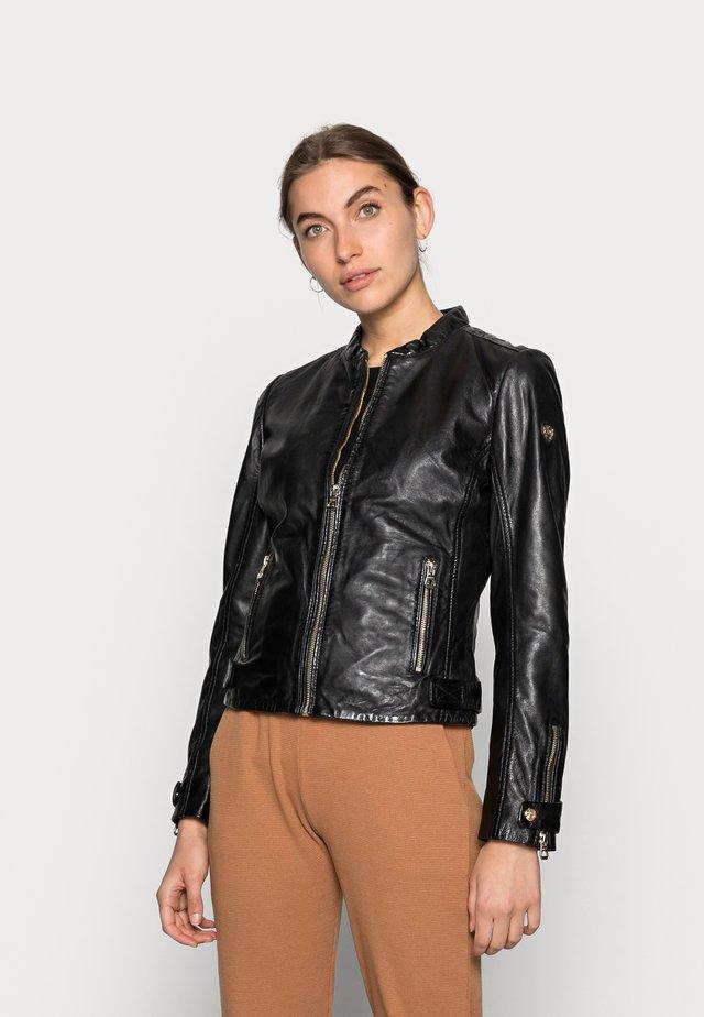 LUZI LACUV - Leather jacket - black