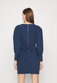 Closet - LONG SLEEVE TULIP DRESS - Shift dress - navy - 2
