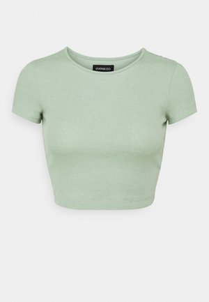 Camiseta básica - mottled light green