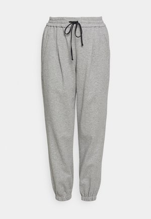 DRAWSTRING WITH FRONT PLEAT - Pantalon de survêtement - grey melange