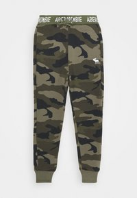 Abercrombie & Fitch - LOGO - Teplákové kalhoty - khaki - 0