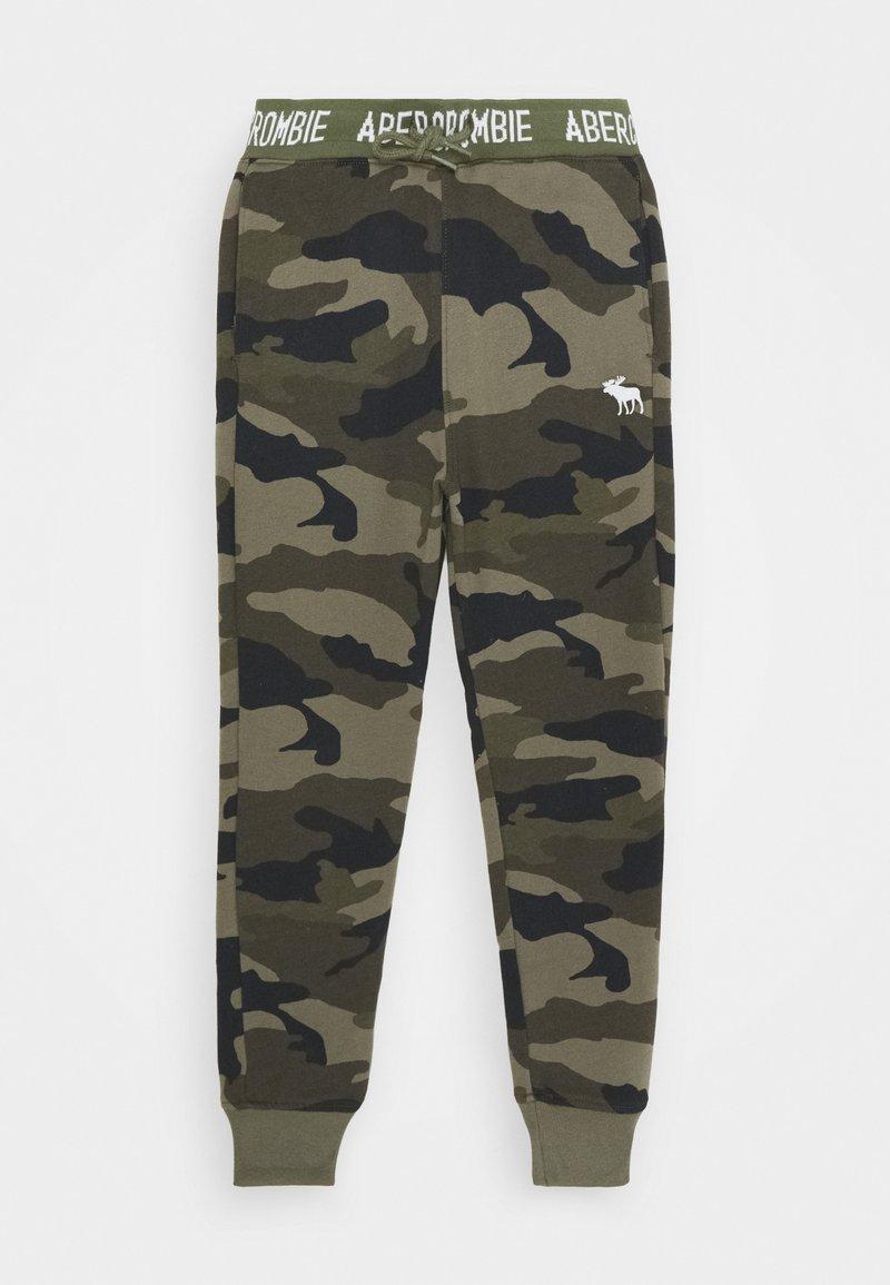 Abercrombie & Fitch - LOGO - Teplákové kalhoty - khaki