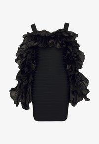 Hervé Léger - RUFFLE SLEEVE MINI - Vestito elegante - black - 5