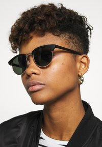 Zign - UNISEX - Sunglasses - black/green - 2