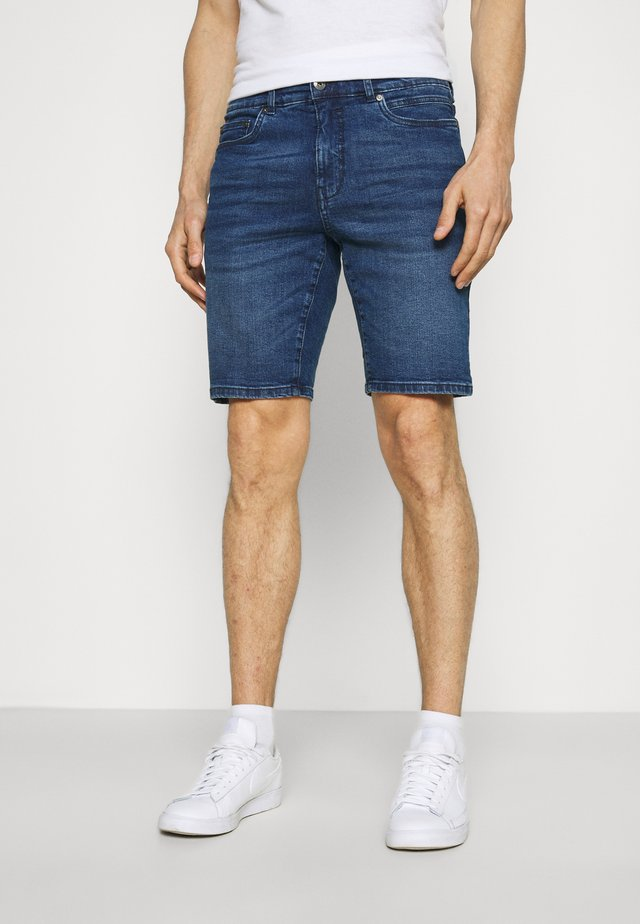 SDRYDER - Denim shorts - middle blue denim