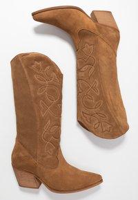 mtng - CENTA - Cowboy/Biker boots - tan - 3