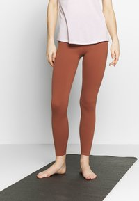 Nike Performance - THE YOGA LUXE - Tights - red bark/terra blush - 3