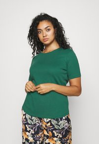 CAPSULE by Simply Be - 3 PACK - Basic T-shirt - navy/palm green - 4
