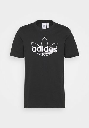 GRAPHIC UNISEX - Print T-shirt - black/white