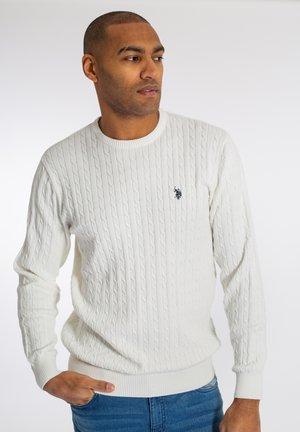 ARCHI  - Stickad tröja - white
