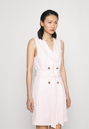 BELTED WRAP MINI DRESS - Abito a camicia - light pink