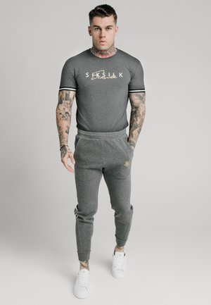 SIGNATURE TEE - Print T-shirt - grey