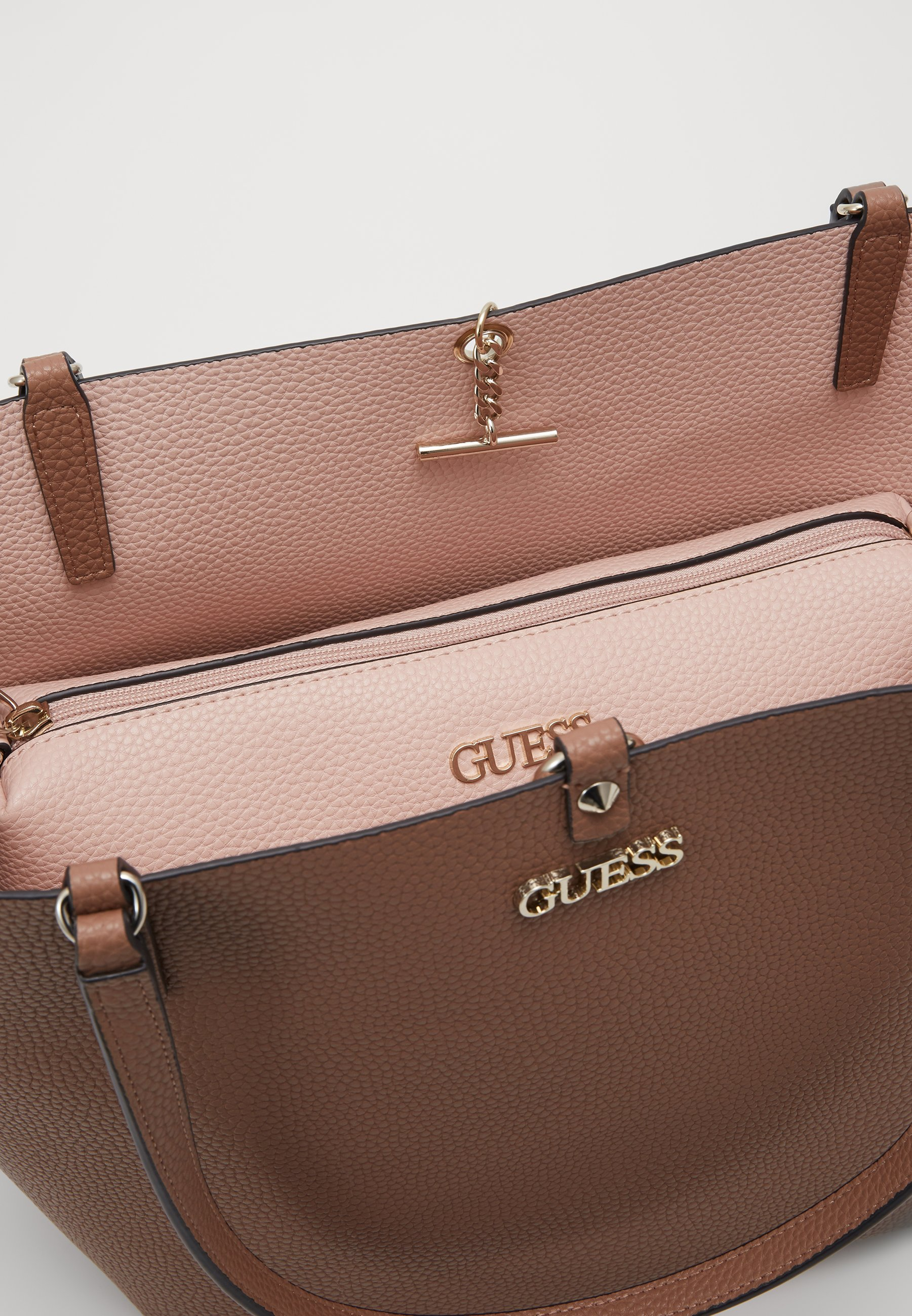Guess ALBY TOGGLE TOTE SET Shoppingveske taupeblush