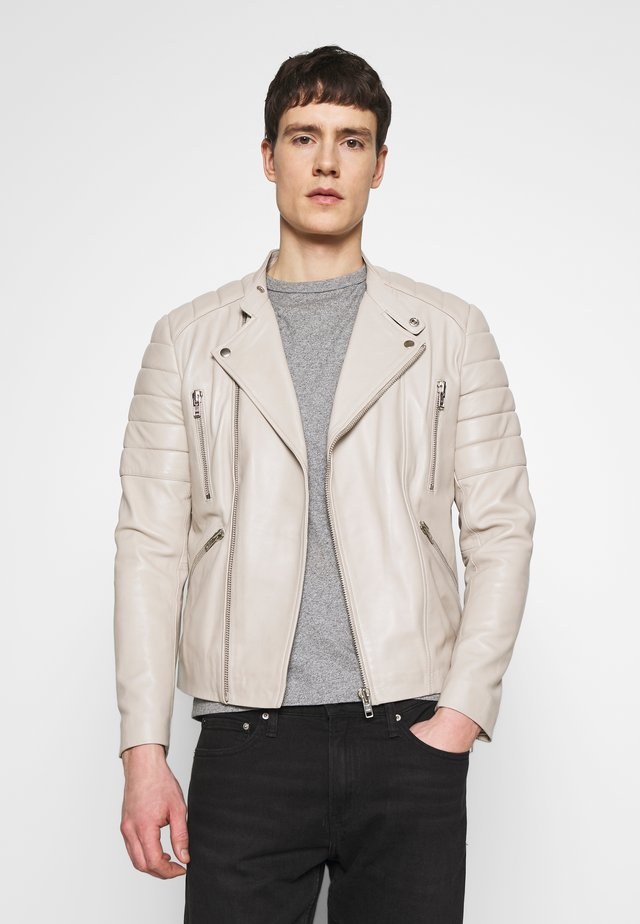GLADATOR - Leather jacket - light grey