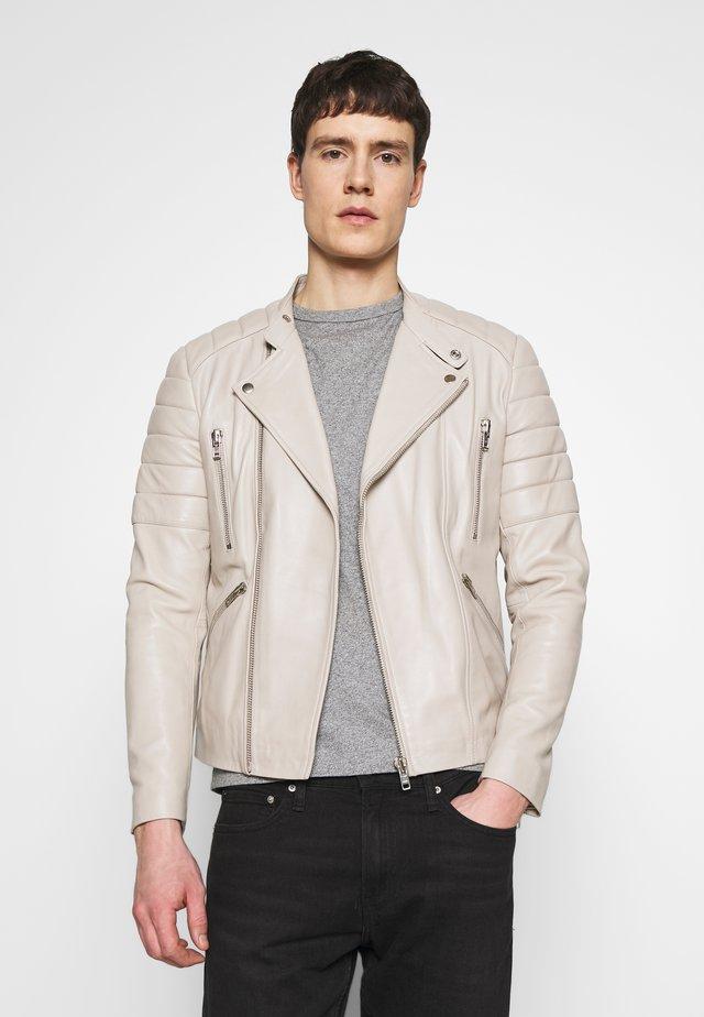 GLADATOR - Kožená bunda - light grey