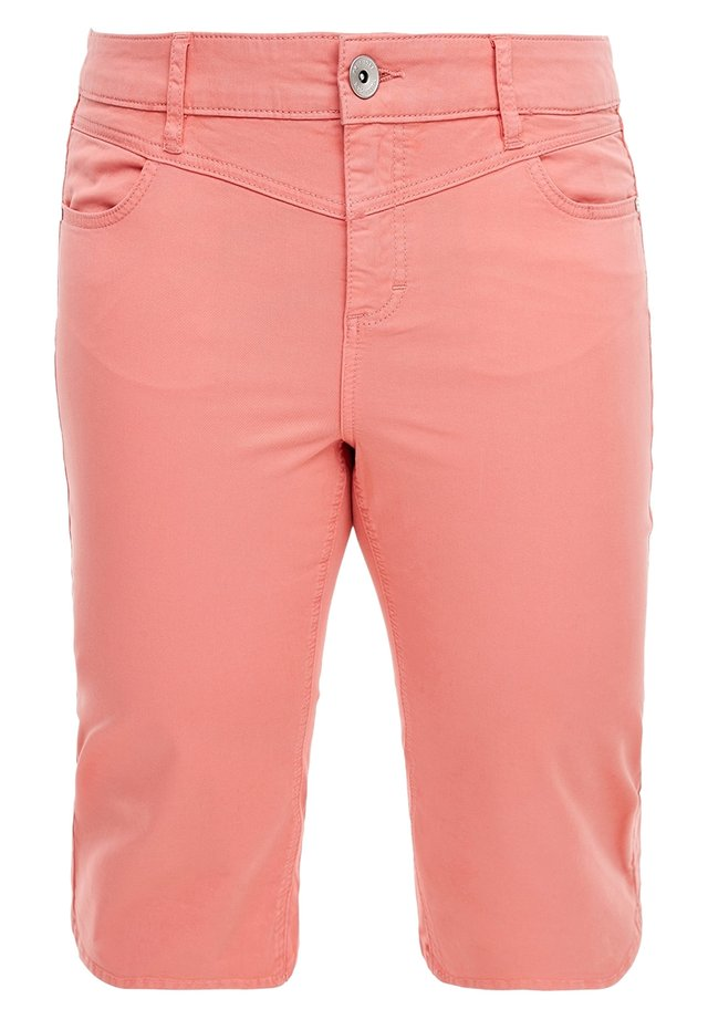 Denim shorts - coral