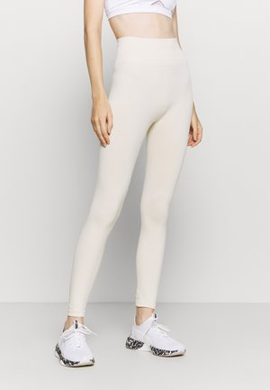 HIGH WAIST SEAMLESS LEGGINGS - Medias - beige