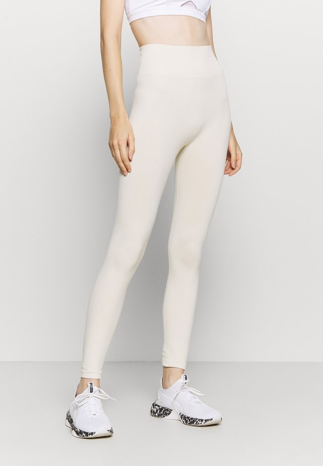 HIGH WAIST SEAMLESS LEGGINGS - Tights - beige