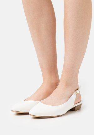 Slingback ballet pumps - white matt