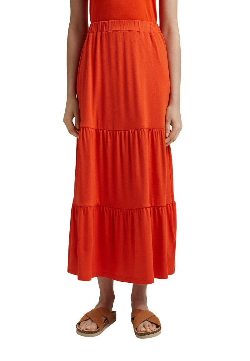 Esprit - A-line skirt - orange red