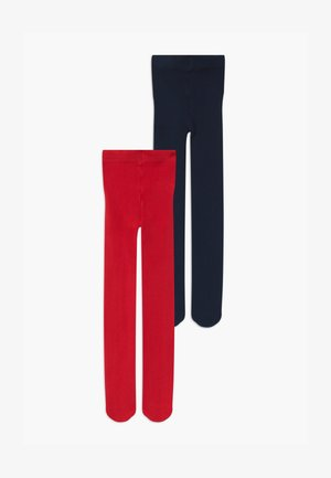 BASIC 2 PACK - Tights - red/dark blue