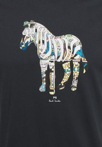 PS Paul Smith - SLIM FIT ZEBRA UNISEX - Print T-shirt - dark blue - 2