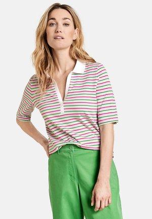 Polo shirt - lila/pink/grün ringel