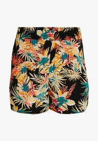Dorothy Perkins - TROPICAL SHIRRED SHORTS - Beach accessory - black - 3