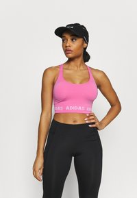 adidas Performance - AEROKNIT BRA - Light support sports bra - pink - 0