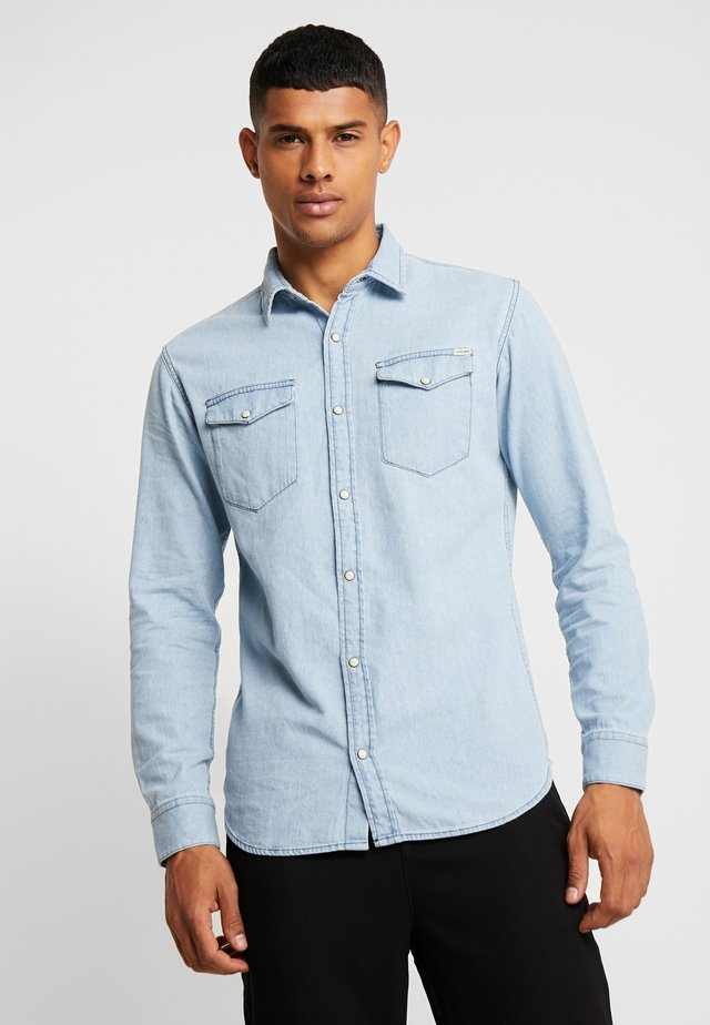 JJESHERIDAN SLIM - Shirt - light blue denim