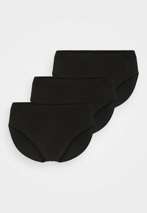 3PACK Slips Supermini Organic Cotton - 95/5 Essentials - Briefs - black