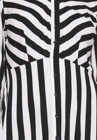 YAS - YASSAVANNA LONG DRESS - Maksimekko - black/ white stripes - 4