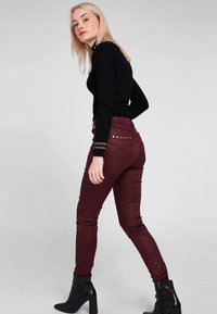 Morgan - HIGH WAISTED TROUSERS - Trousers - dark red - 1