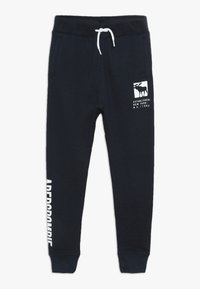 Abercrombie & Fitch - CORE LOGO - Träningsbyxor - navy solid - 0