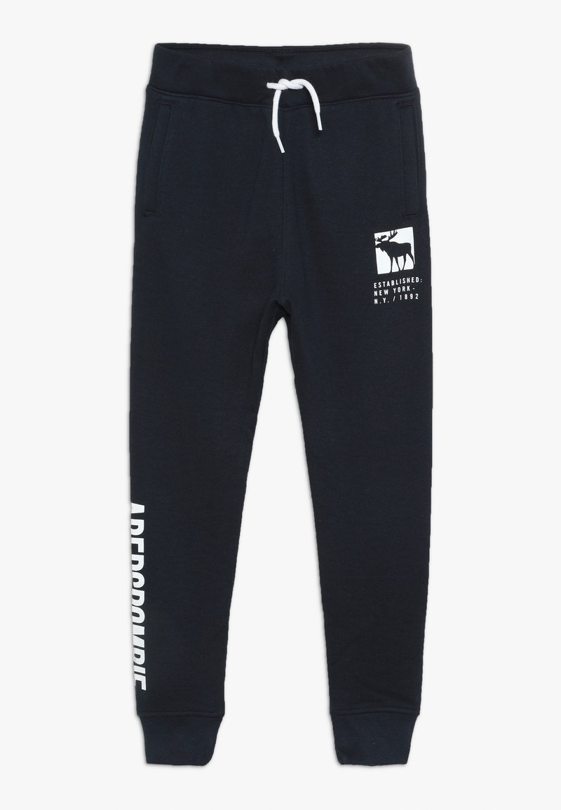 Abercrombie & Fitch - CORE LOGO - Tracksuit bottoms - navy solid