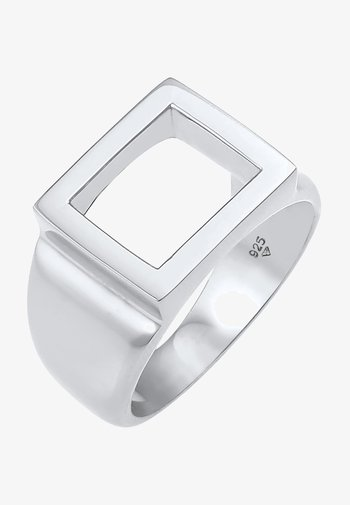 SQUARE CUT OUT - Ring - silber