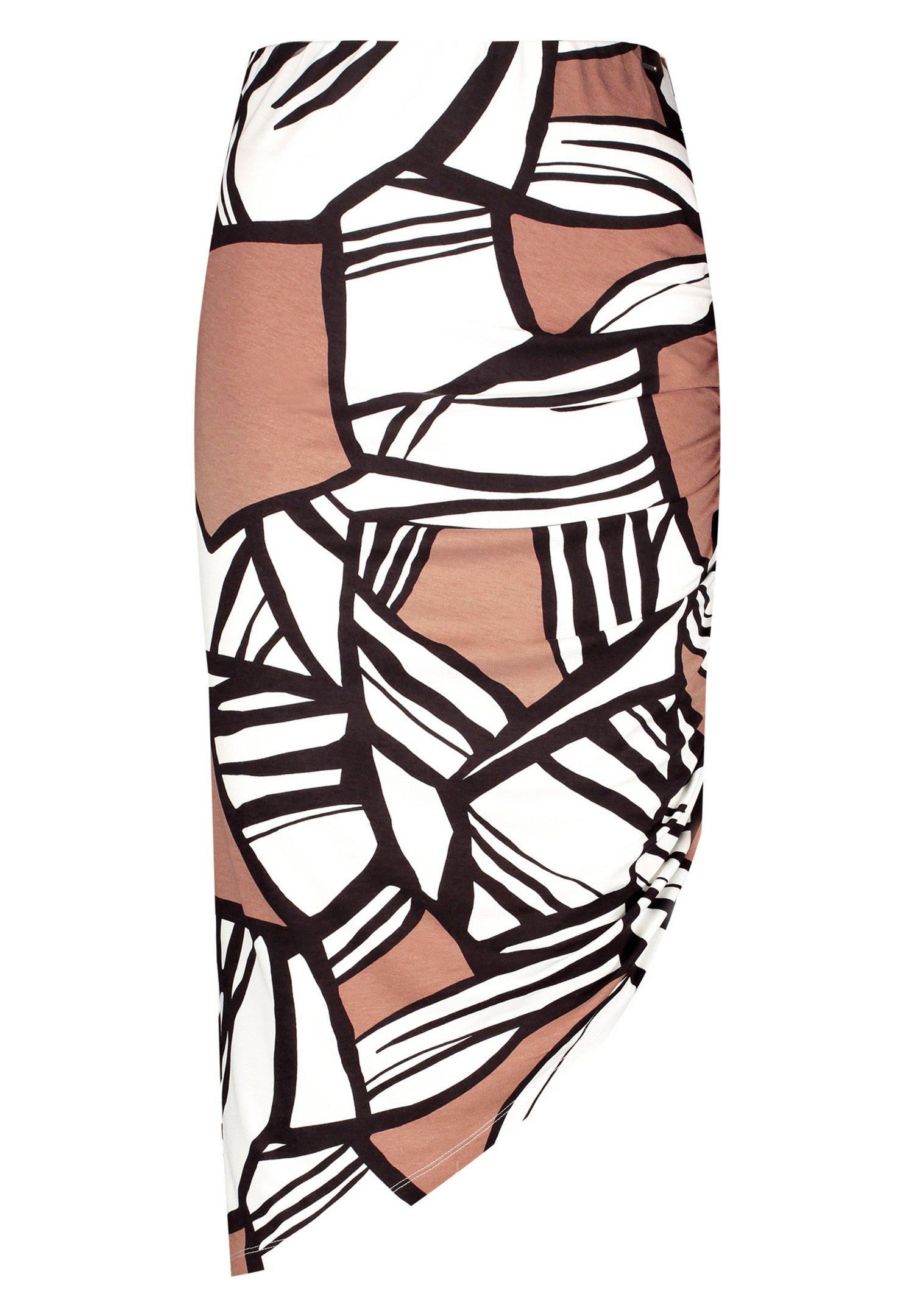 Femme MIT ASYMMETRISCHEM SAUM - Jupe crayon