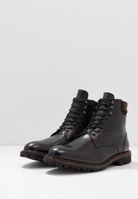 Prime Shoes - Šněrovací kotníkové boty - buttero black - 2