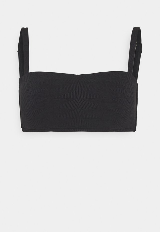 SEASIDE SOIREE BANDEAU  - Haut de bikini - black