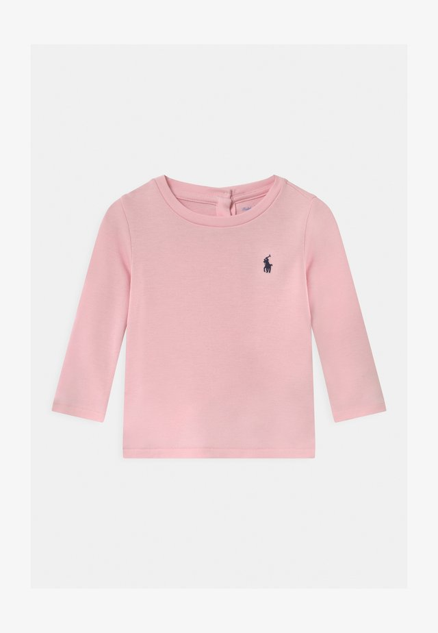 Long sleeved top - hint of pink