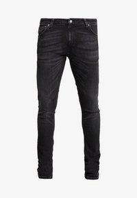 Nudie Jeans - SKINNY LIN - Jeans Skinny Fit - worn black - 4
