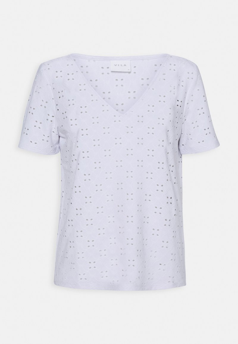 VILA PETITE - VITRESSY DETAIL - Print T-shirt - optical snow