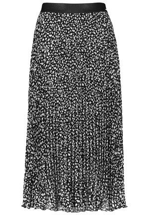 MIT ANIMAL-PRINT - A-line skirt - black gemustert
