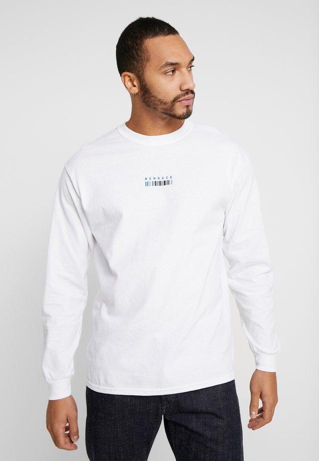 UNISEX MENNACE BARCODE PRINT - Pitkähihainen paita - white