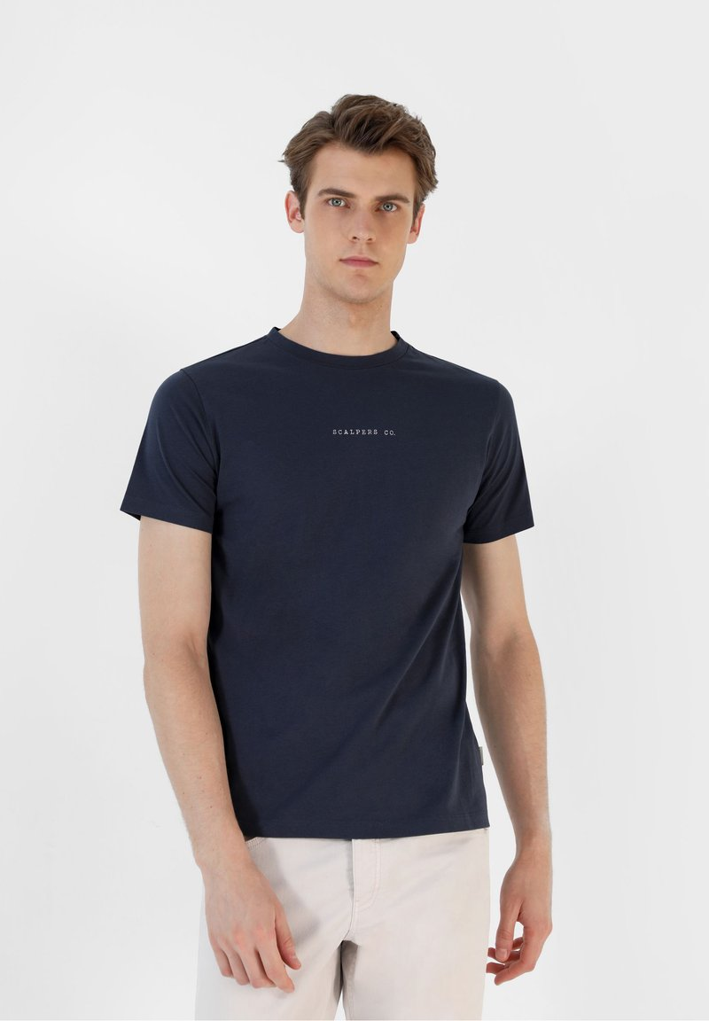 Scalpers - Print T-shirt - navy