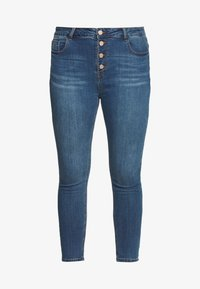 Lost Ink Plus - BUTTON FLY - Jeans Skinny Fit - denim - 4