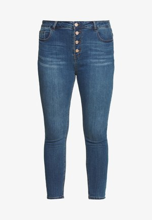 BUTTON FLY - Jeans Skinny Fit - denim