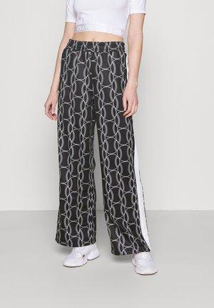 HADA TRACK PANT - Trousers - black allover/blanc de blanc